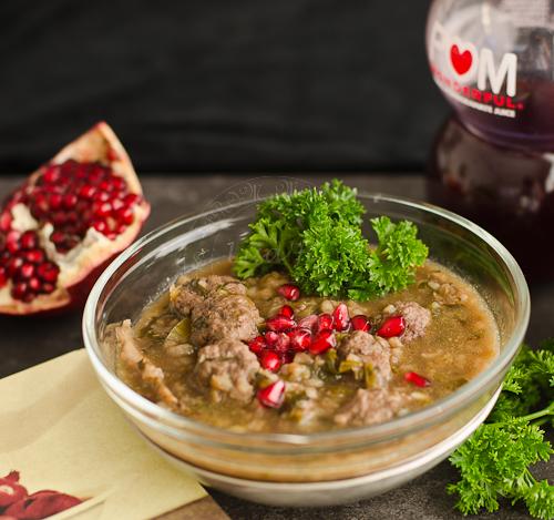Persian Pomegranate Soup - Lisa's Lemony Kitchen Persian Pomegranate Soup