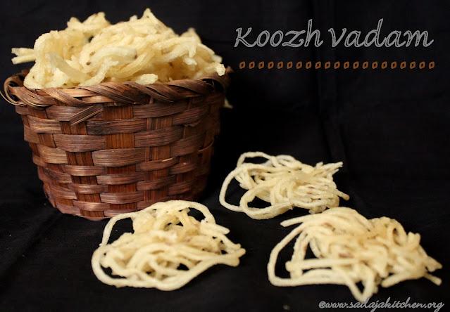 imahes of Koozh Vadam / Koozh Vathal / Arisi Koozh Vathal / Kuzh Vadam - Summer Recipes