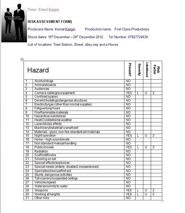 As Media Kemal Planning Pre Production Paperwork