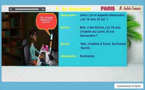تحميل امتحان لغة فرنسية الكتروني للصف الأول الثانوي ترم أول 2019 - موقع مدرستى