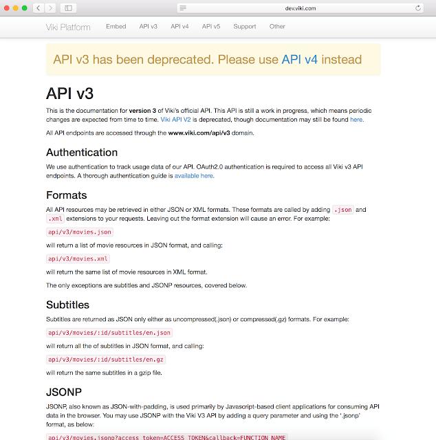 Versión obsoleta publicada de la API imagen