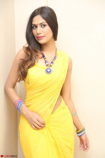 Nishigandha in Yellow backless Strapless Choli and Half Saree Spicy Pics 141.JPG