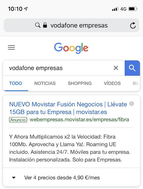 Movistar se cuela en el resultado de Vodafone empresas