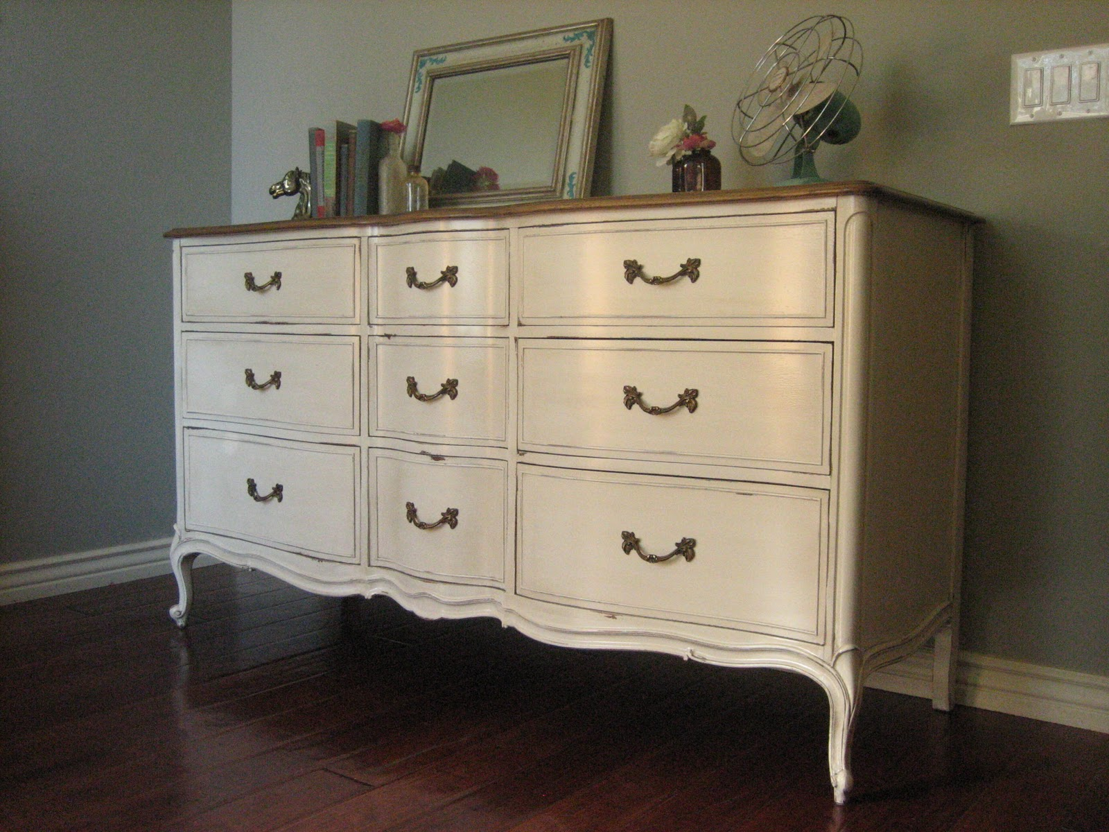 European Paint Finishes Bowed French Dresser