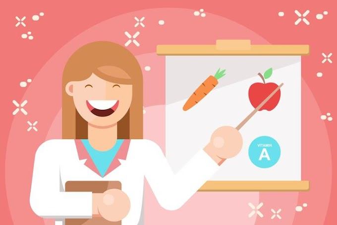 Cheerful Nutritionist Illustration free vector