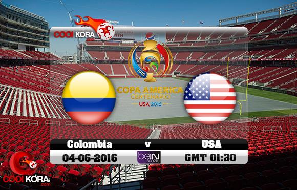 مشاهدة مباراة كولومبيا وأمريكا اليوم 4-6-2016 كوبا أمريكا