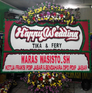 Bunga Papan Happy Wedding (WS-115)