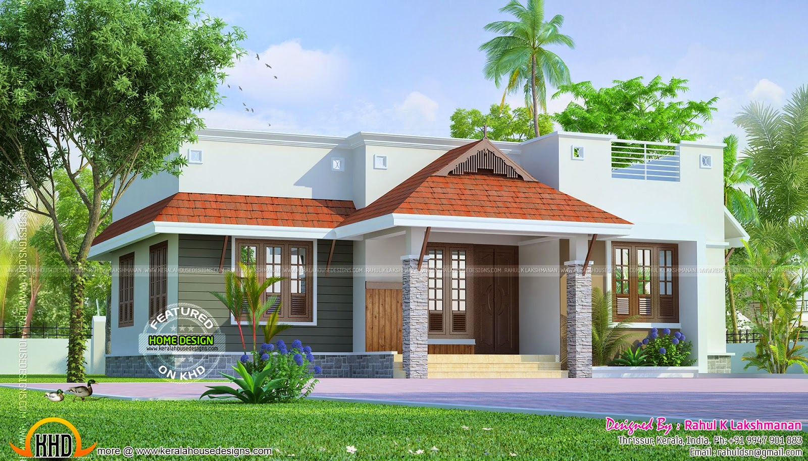 Simple House Plans With Porches Dream Home For Common Man Kerala Home Design And Floor Plans