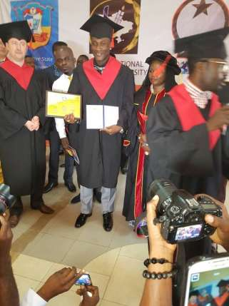 Asamoah Gyan honoured with doctorate degree from Ukranian University