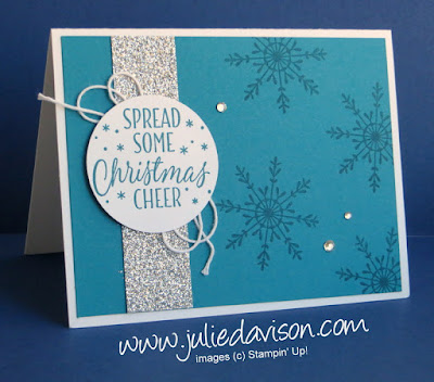 Stampin' Up! Tin of Tags Snowflake Christmas Card #stampinup 2016 Holiday Catalog www.juliedavison.com