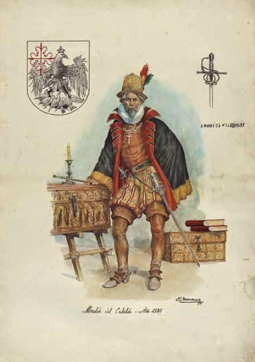 Alcalde del Cabildo en 1580, por Eleodoro Marenco.