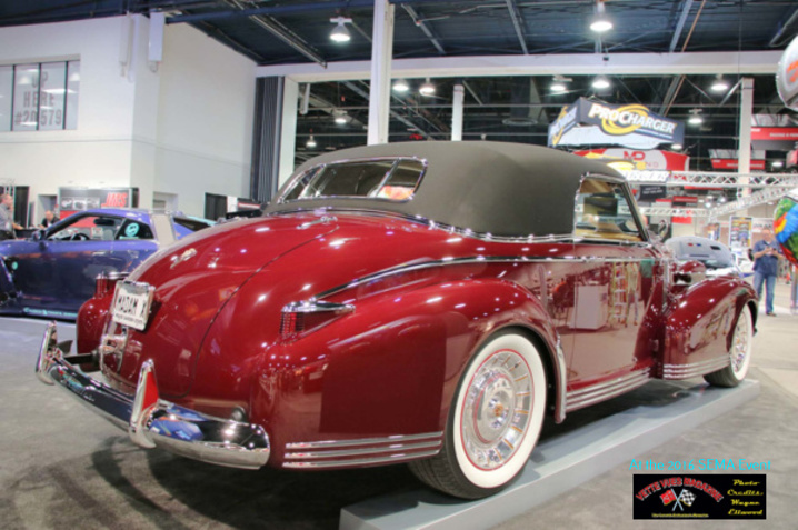 Madam X - 1939 Cadillac 60 Special four door whose running gear is sourced from a 2015 C7 Corvette chassis and powerplant.
