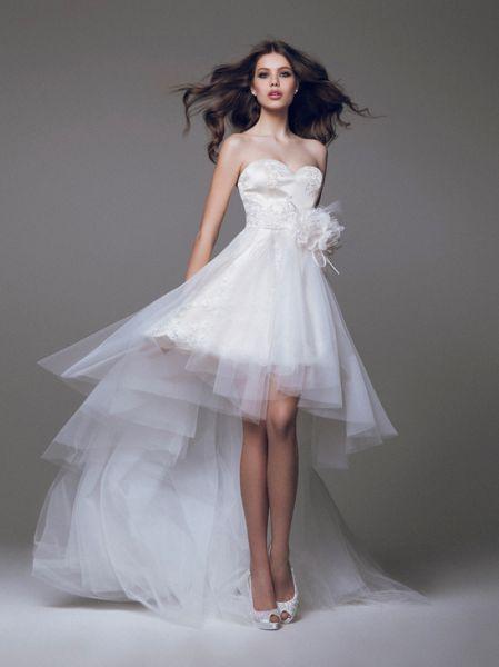 f6ce12b6b Cortos Detras Ideas De Delante Y ¡11 Moda Vestidos Largos Novia TSqYqOE