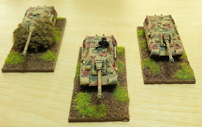 1943 onwards,  3 x Jagdpanthers