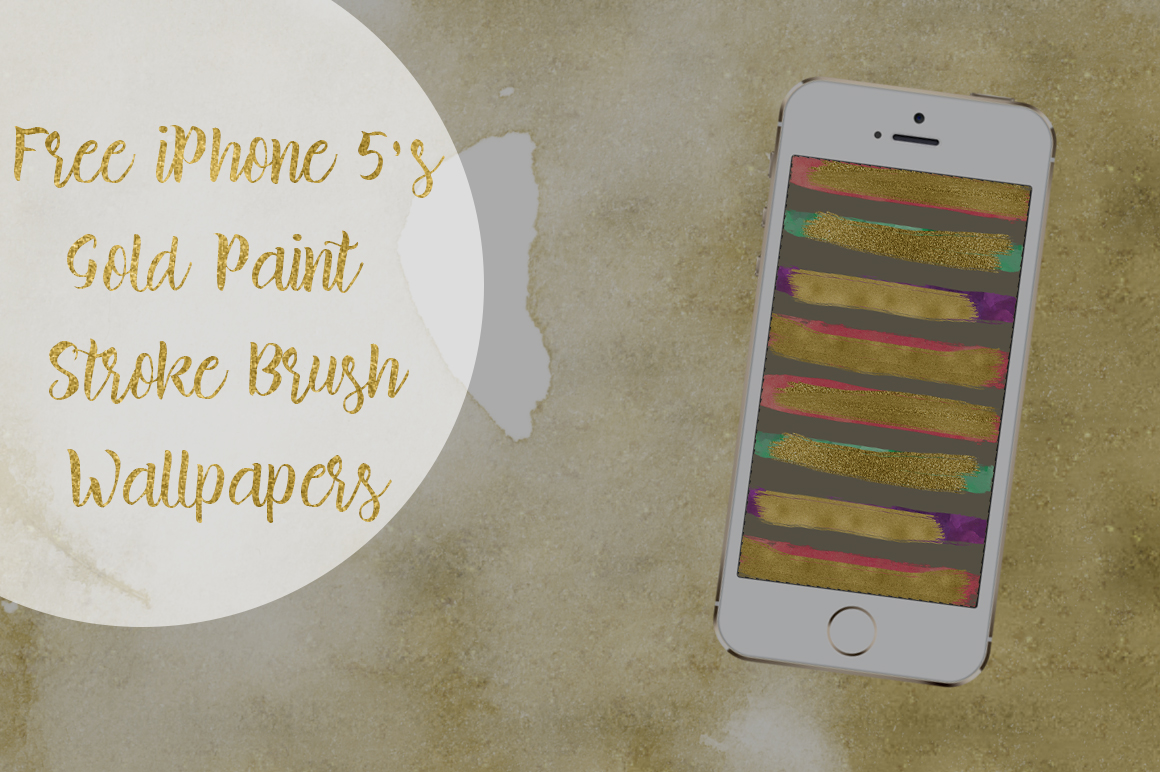 DLOLLEYS HELP: Free IPhone 5s Gold Paint Stroke Brush