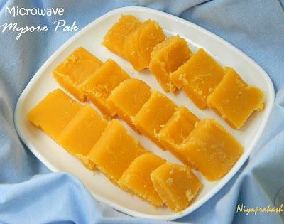 Niya S World Microwave Mysore Pak