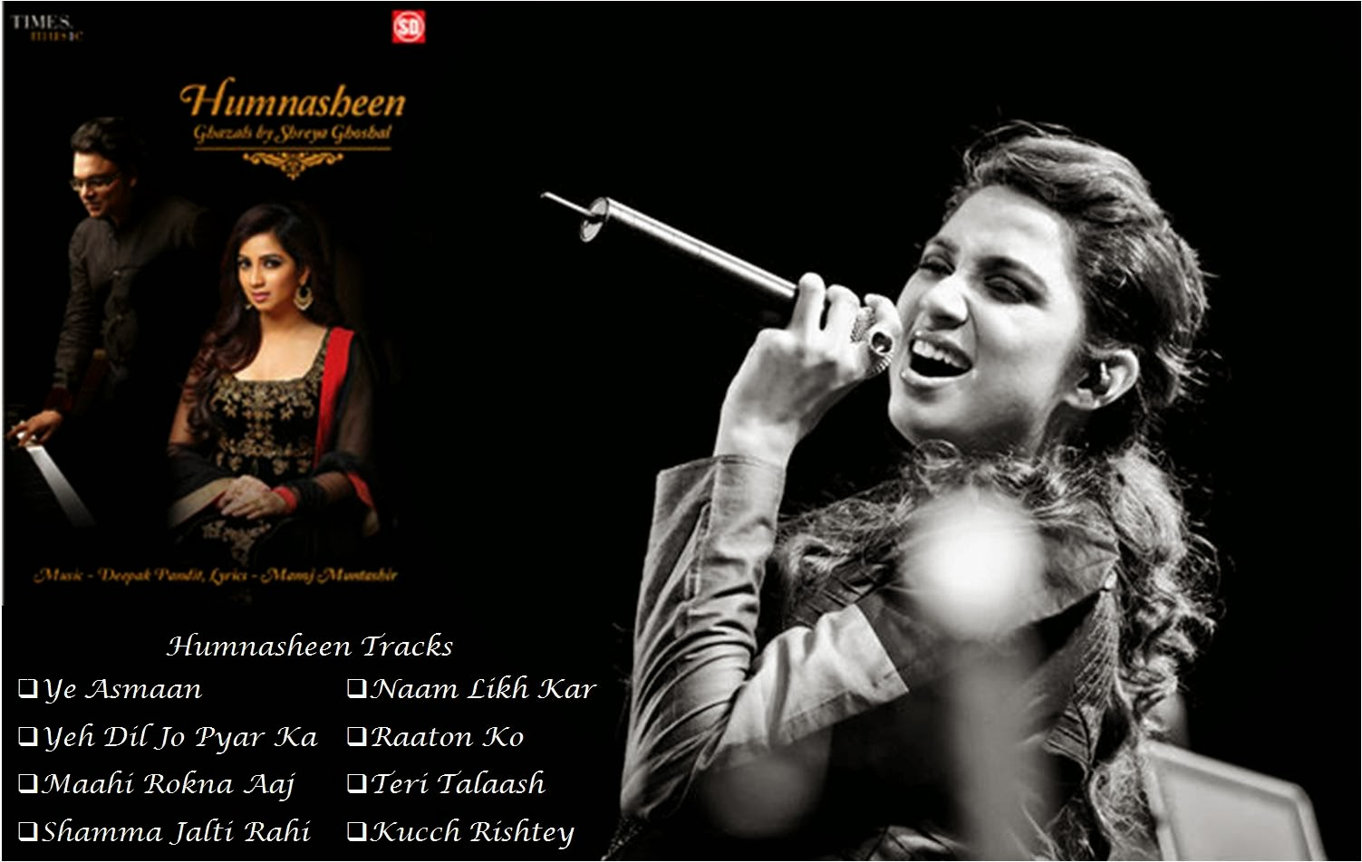 Humnasheen: First Ghazal Album by Shreya Ghoshal