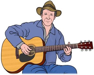 アコースティックギター (acoustic guitar)
