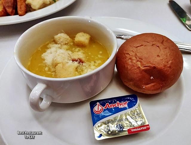 BBQ BUFFET Menu - Cream of Roasted Pumpkin Soup