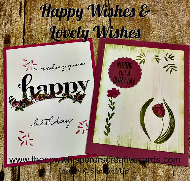 Card, Happy Wishes, Lovely Wishes, Simple Stripes Embossing Folder, Layered Leaves Embossing Folder