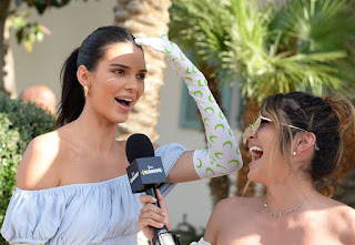 Kendall Jenner At Interview With Erin Lim From E! News The Rundown at Coachella in Indio
