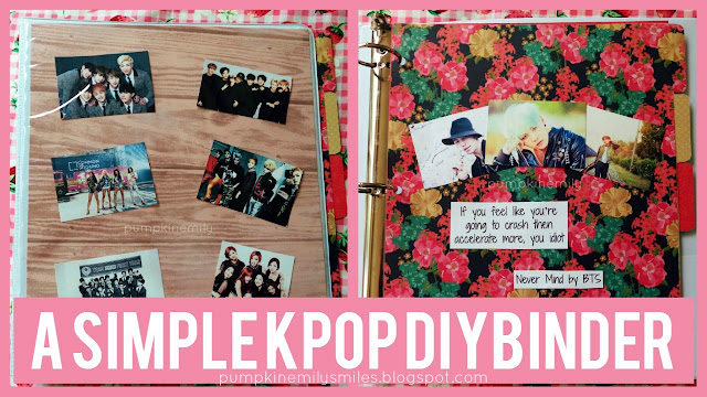A Simple KPOP DIY Binder