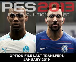 option file pes 2013 winter transfer 2019