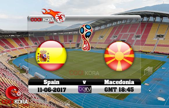 مشاهدة مباراة مقدونيا وأسبانيا اليوم 11-6-2017 تصفيات كأس العالم