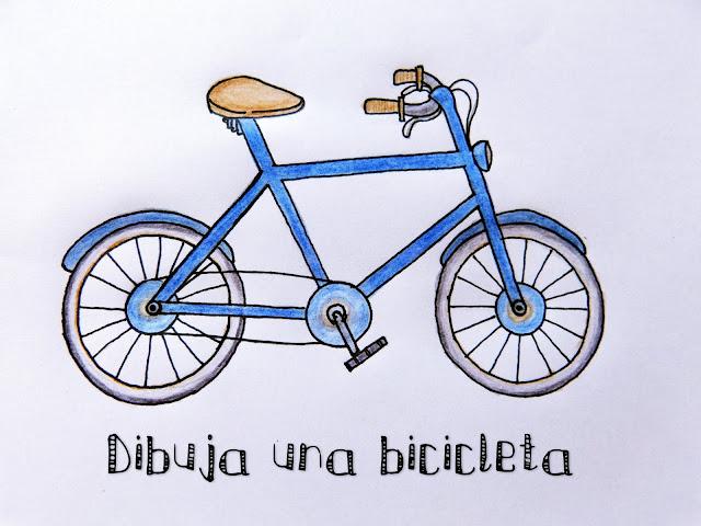 Cómo dibujar una bicicleta. Tutorial de dibujo para niños. Nica Bernita