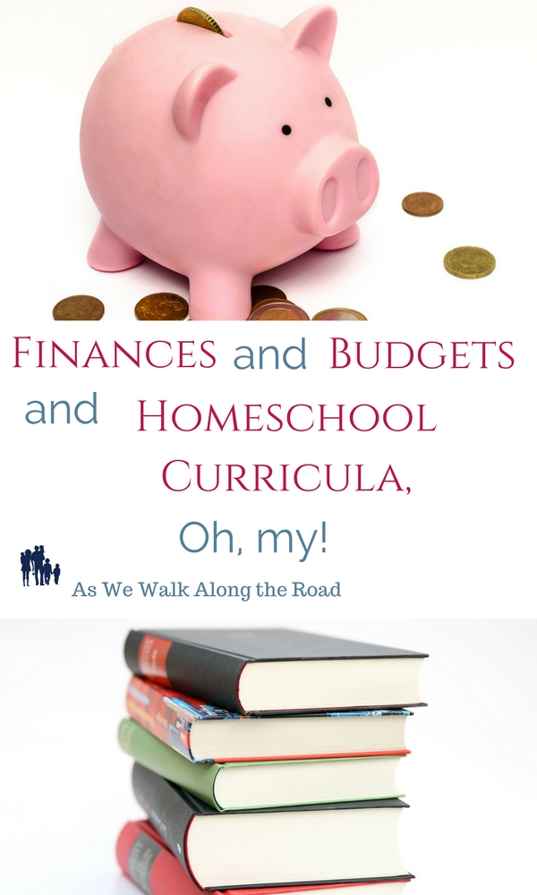 Budgeting for homeschool curricula