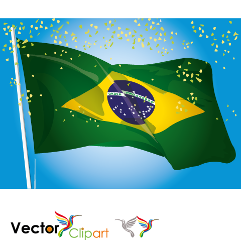 Bandera de Brasil 2014 - Vector