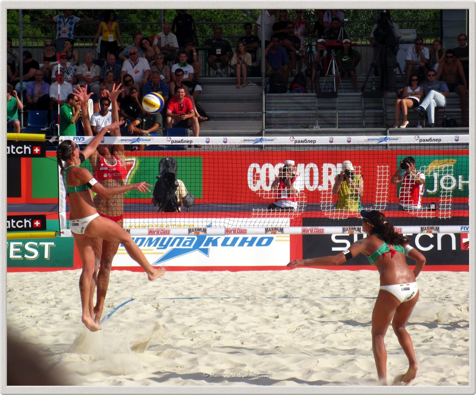 Attack of Italian Beach Volleyball Team