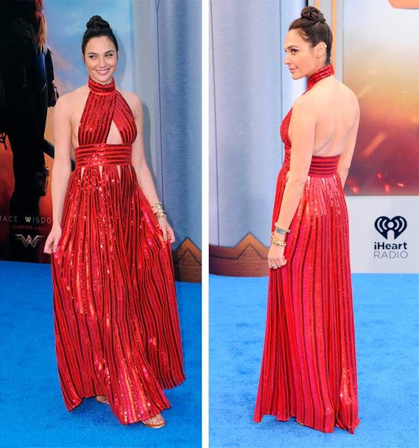 Vestido vermelho Gal Gadot