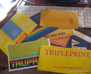 old envelopes from some of the different film processing companies