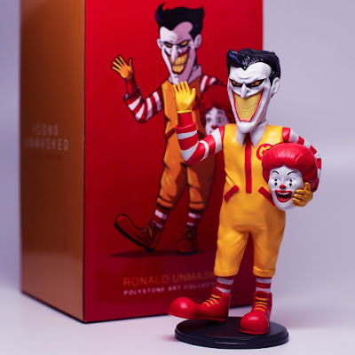 Icons Unmasked Ronald McDonald x The Joker Polystone Art Toy Collectible by Alex Solis