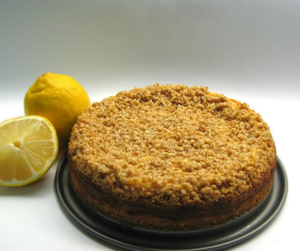 Tarte crumble de requeijão / Cottage cheese crumble pie