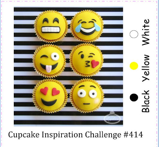 CIC414: Cupcake Inspirations: Color: Black, Yellow & White