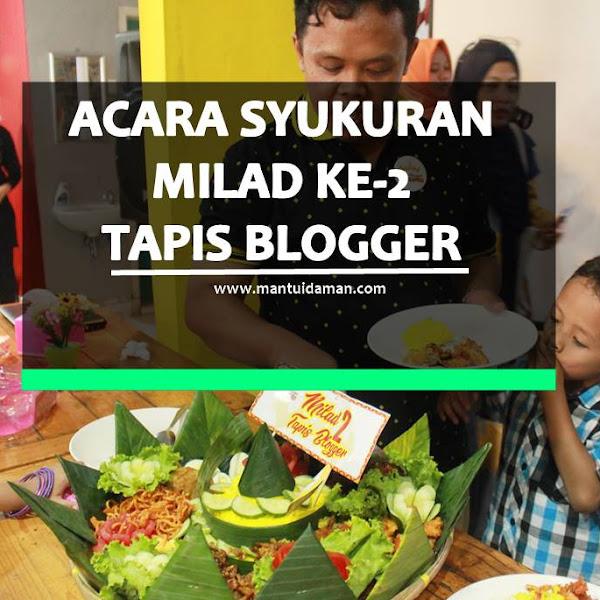 Kisah Di balik Syukuran Milad Ke 2 Tapis Blogger Bersama Pemateri Ale Jenes (@kulinerlampung)