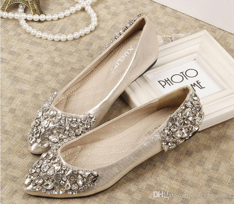 5067ed7273d Where to Get Flat Bridal Shoes With Bling