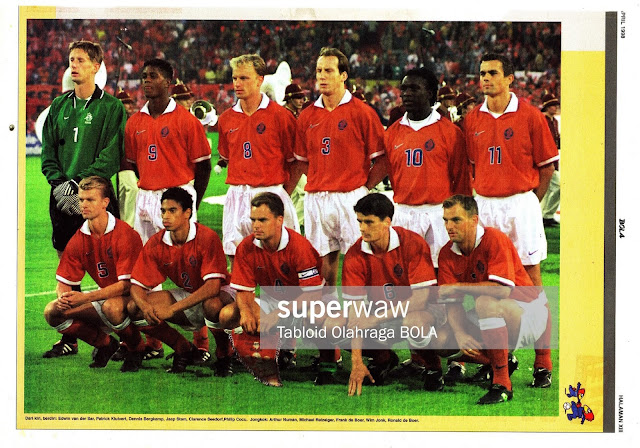 HOLLAND NETHERLANDS TEAM SQUAD 1997