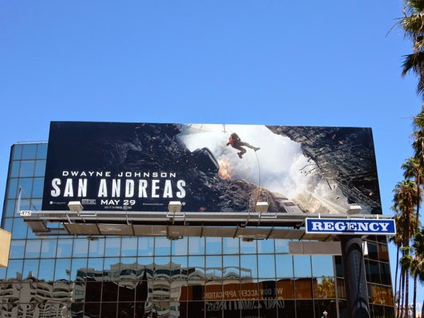 San Andreas movie billboard