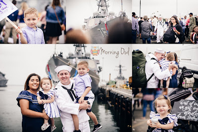 Military navy ship homecoming familiy reuniting homecoming photography san diego morning owl fine art