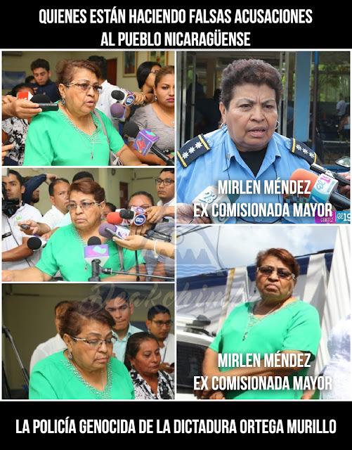 Mirlen Méndez Ex Comisionada Mayor de la Policía Orteguista