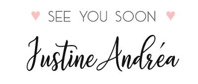 Pied d'article signature Justine Andréa Modèle