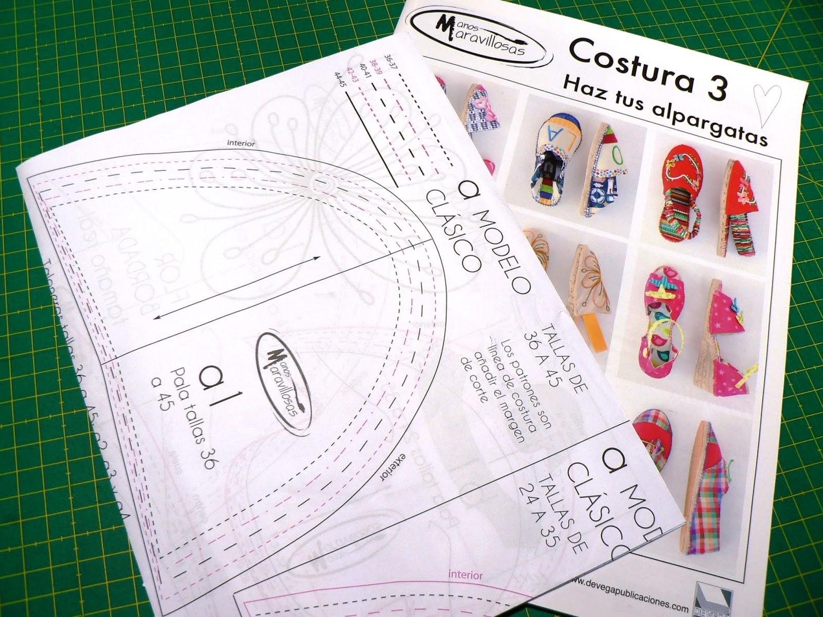La costurera entrometida: Revistas de costura: Haz tus alpargatas