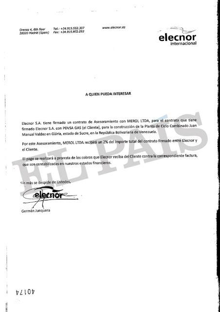 Una firma española pagó 11 millones de euros a un exviceministro de Chávez tras recibir una obra en Venezuela