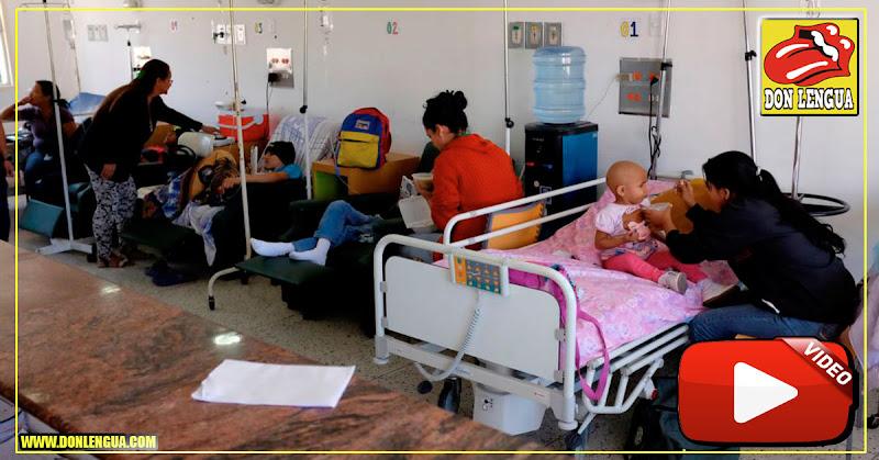 Niños Enfermos del JM de los Ríos gritan desde las ventanas que no tienen comida ni agua - MADURO ASESINO