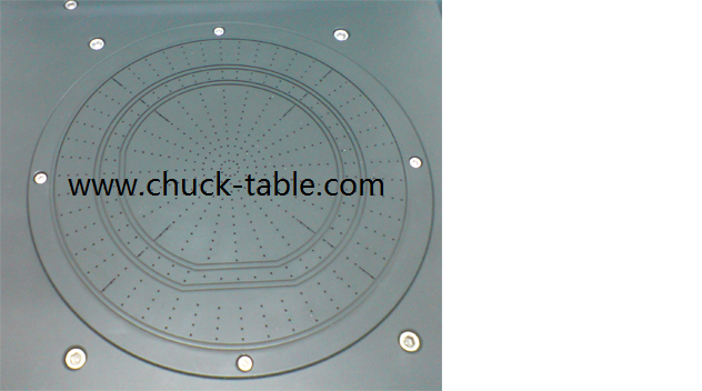 Wafer taping and de-taping Chuck for wafer de-taper machine | Porous