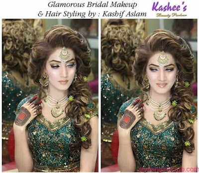 Kashif Aslam wedding hairstyles and makeup artist