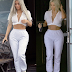 Kim Kardashian flaunts tiny waist in crop top